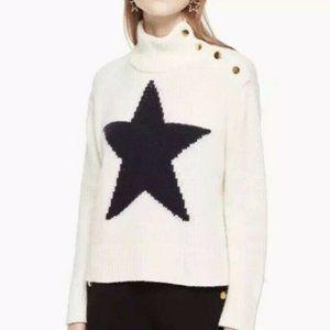 Broome Street Kate Spade Star Sweater Mock Neck
